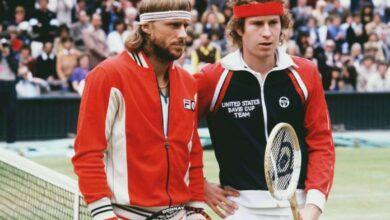 Photo of Bjorn Borg vs John McEnroe Wimbledon Final 1980
