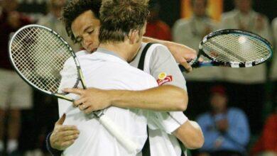 Photo of Younes El Aynaoui vs Andy Roddick, Australian Open 2003
