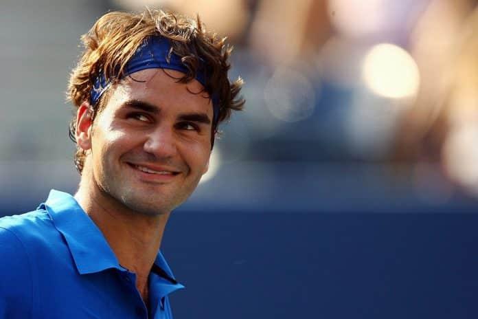 Smiling Federer