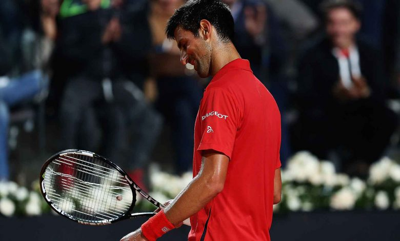 Djokovic Broken String