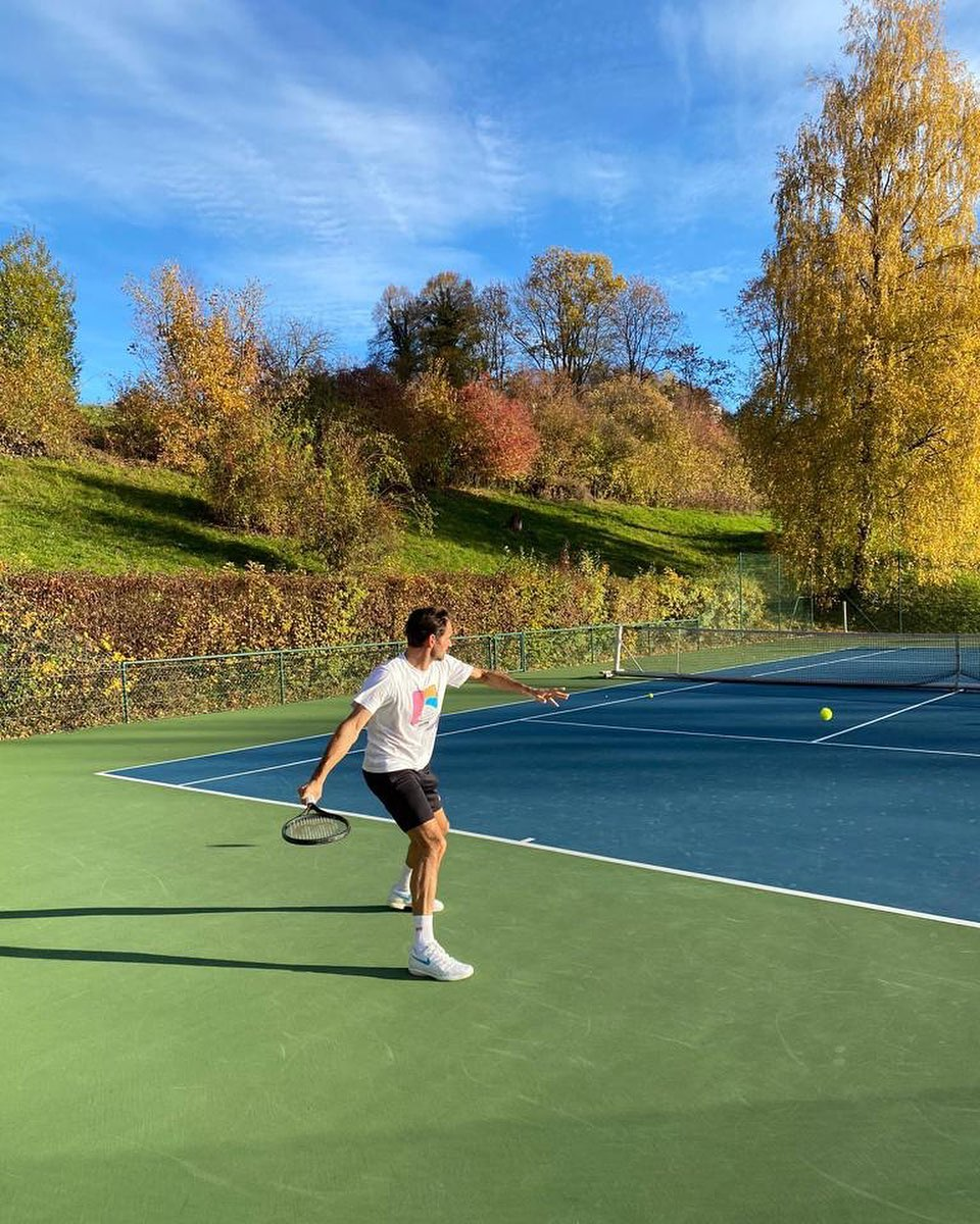 Federer Practice 2020