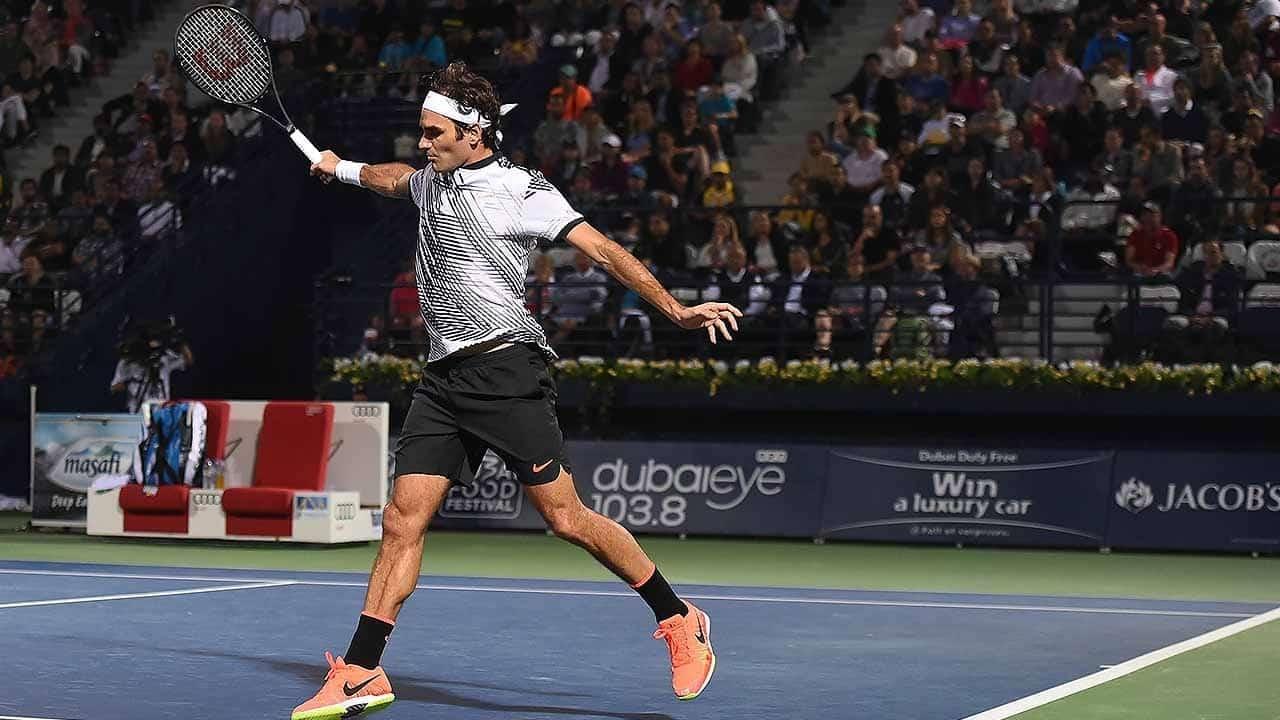 Federer Backhand 2017