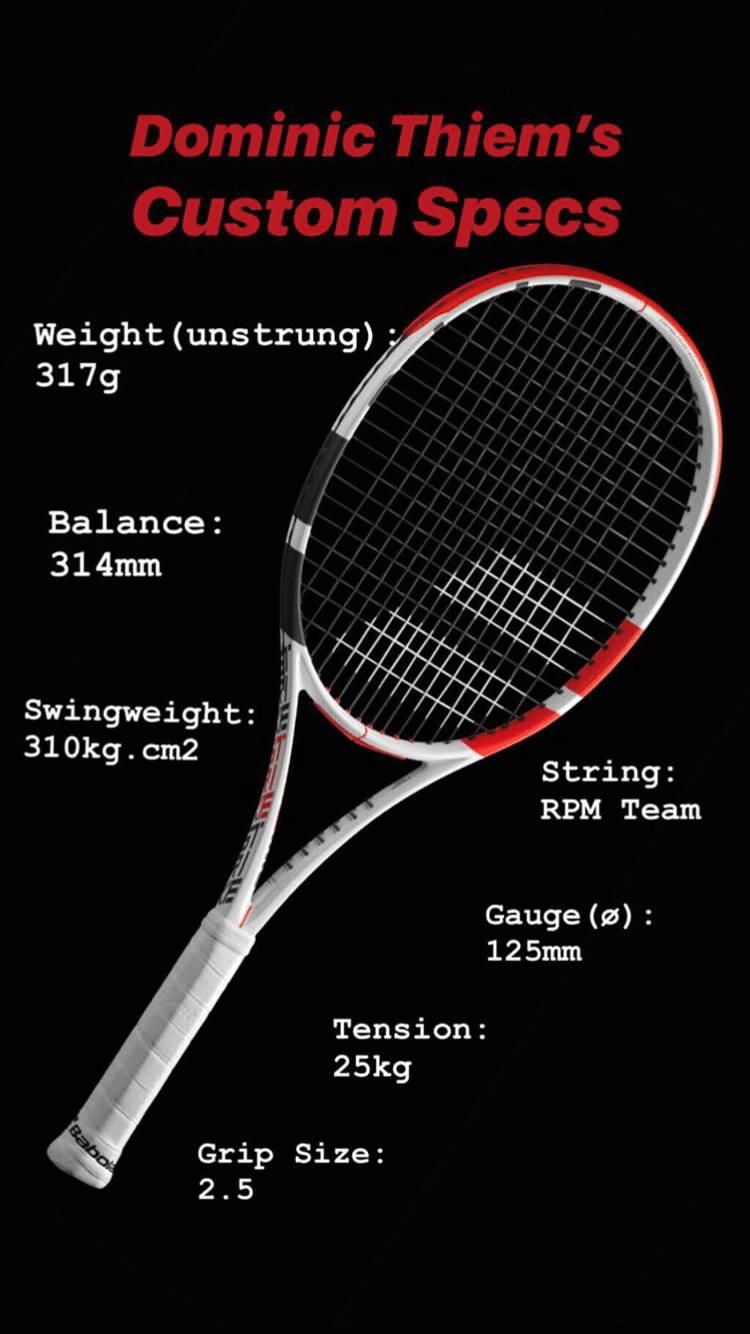 Thiem Racquet Specs