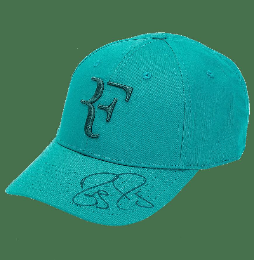 federer signed hat