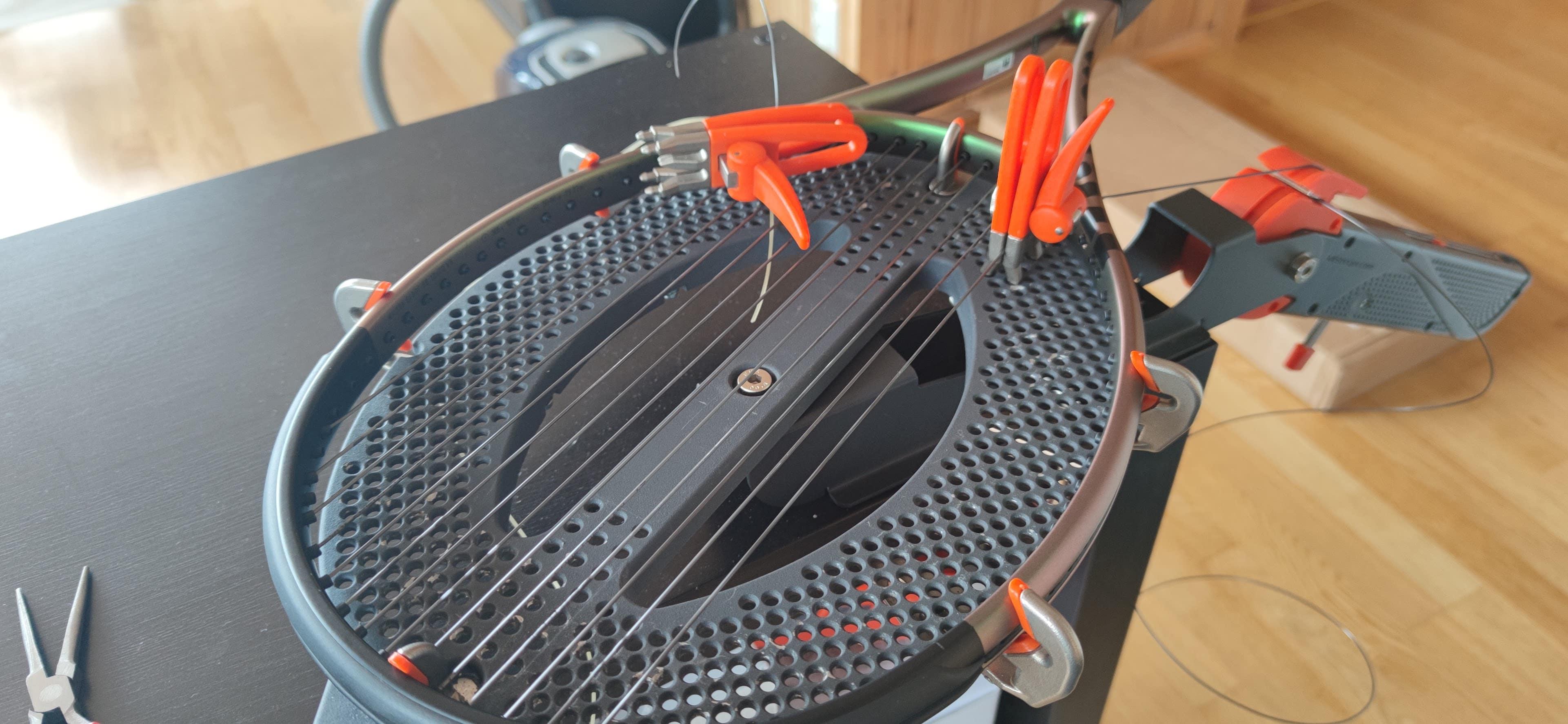 wilson blade 98 stringing
